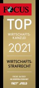 FCS Siegel TOP Wirtschaftskanzlei 2021 Wirtschaftsstrafrecht